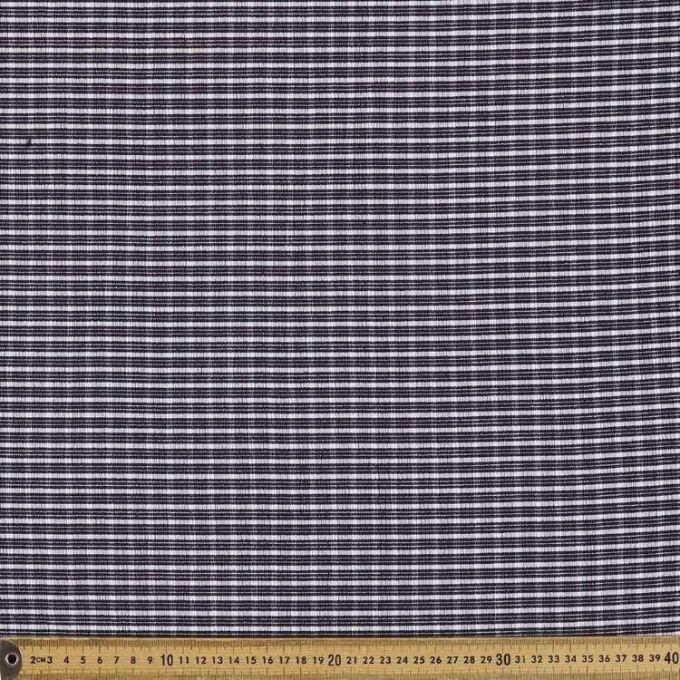 Gingham Check #2 Printed 150 cm Elastane Seersucker Fabric