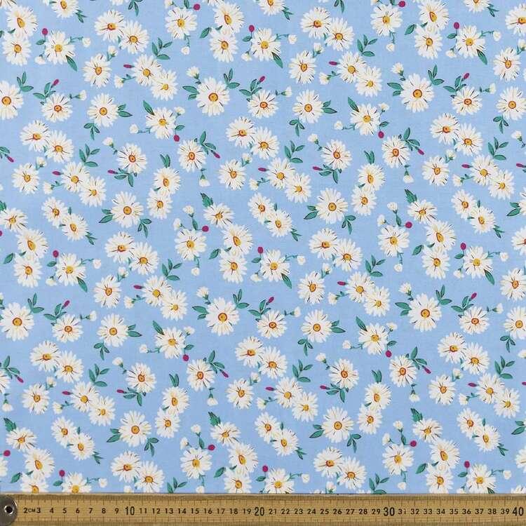Falling Daisy Printed 112 cm Poplin Fabric
