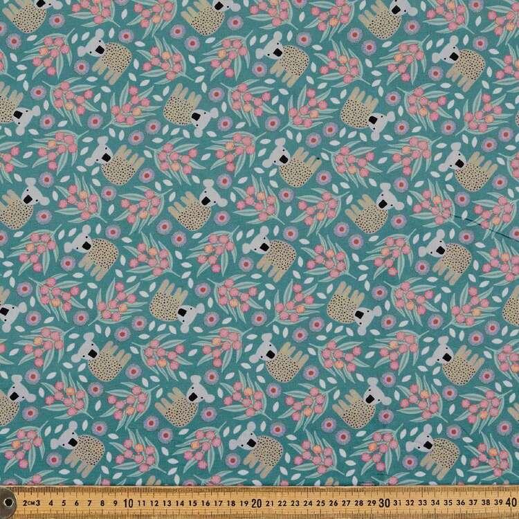 Jocelyn Proust Baby Koala & Wattle Cotton Fabric