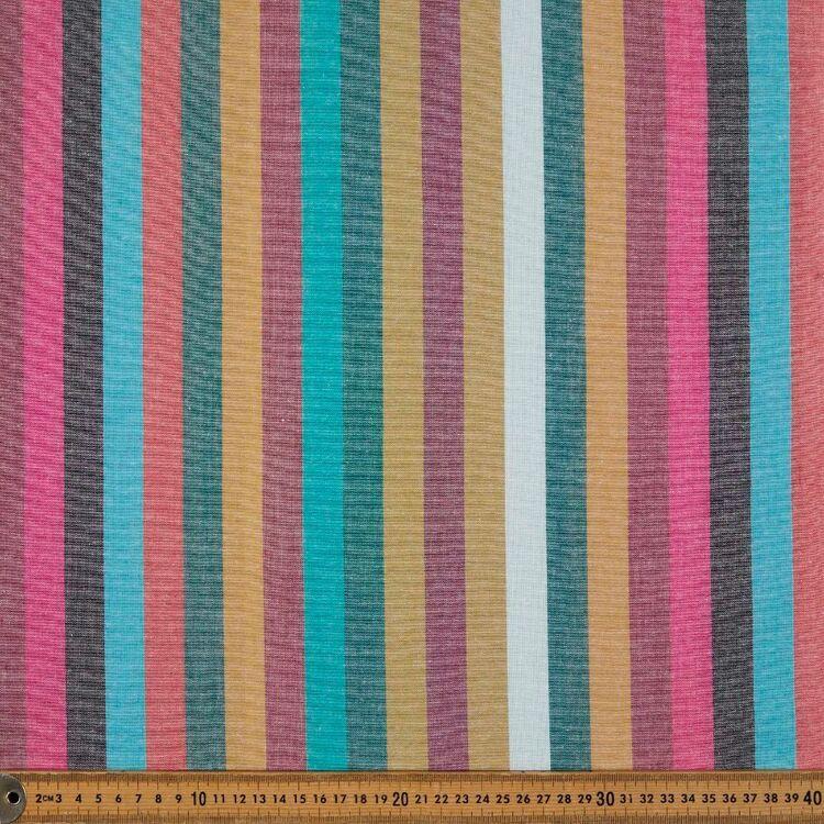 Yarn Dyed Spice Stripe Printed 110 cm Cotton Fabric