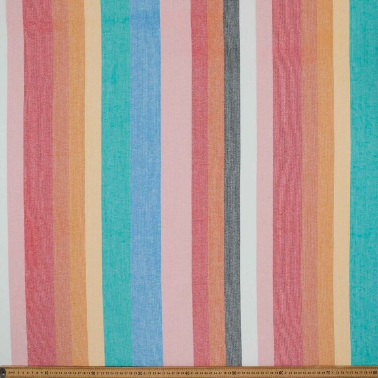 Yarn Dyed Variegated Stripe Printed 110 cm Cotton Fabric