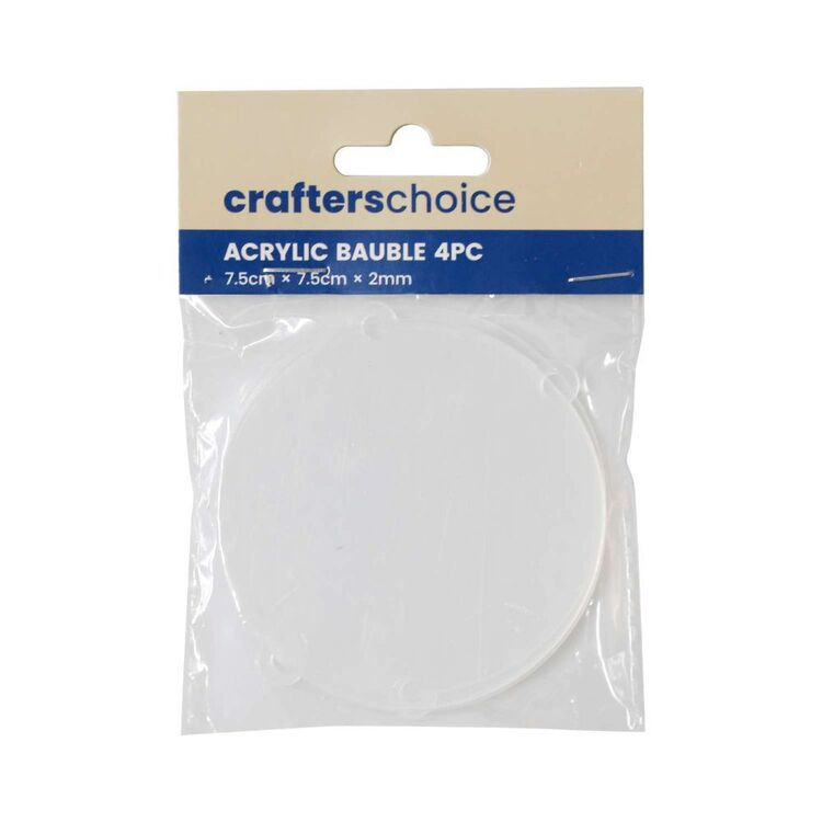 Crafters Choice Acrylic Bauble 4 Pieces