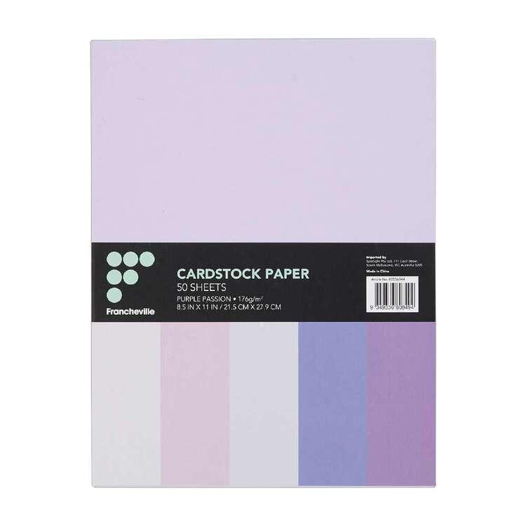 Francheville Purple Passion Cardstock 50 Pack