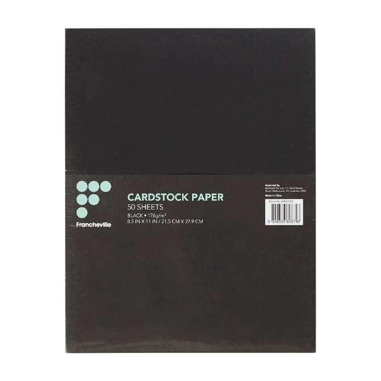 Francheville Black Cardstock 50 Pack