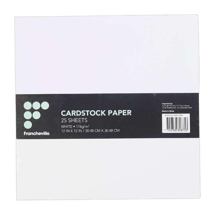Francheville White Cardstock 25 Pack