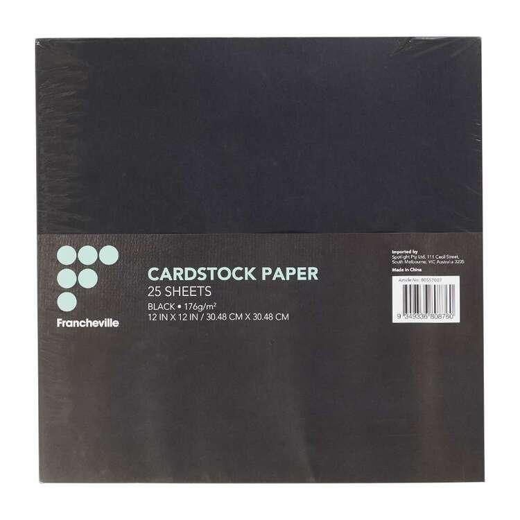 Francheville Black Cardstock 25 Pack