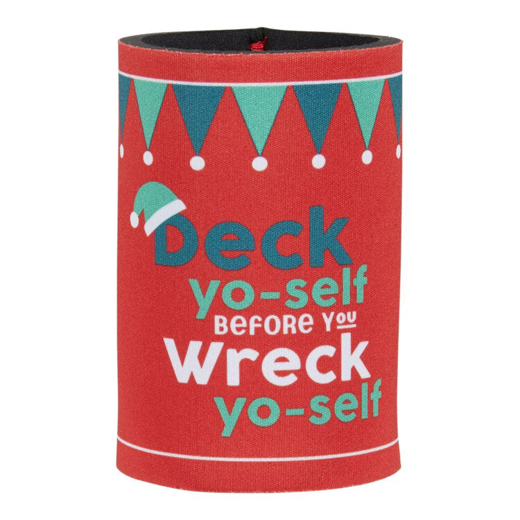 Christmas By Ladelle Deck Yours Stubby Holder