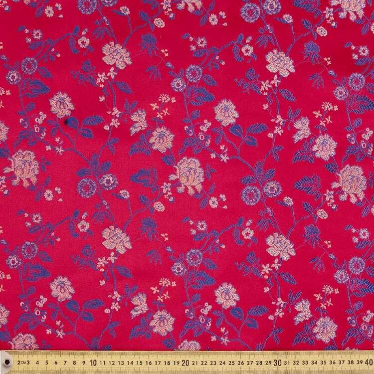 Oriental Printed 90 cm Brocade Fabric