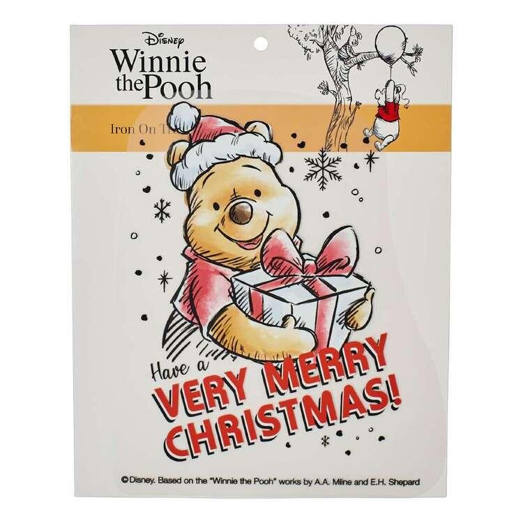 Disney Christmas Winnie The Pooh Iron On Transfer
