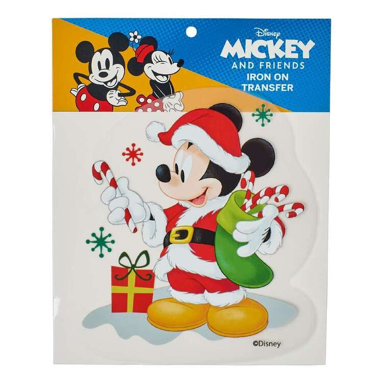 Disney Christmas Mickey Mouse Iron On Transfer