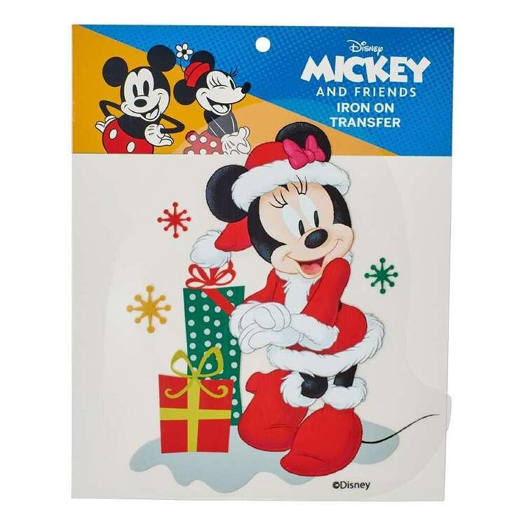 Disney Christmas Minnie Mouse Iron On Transfer