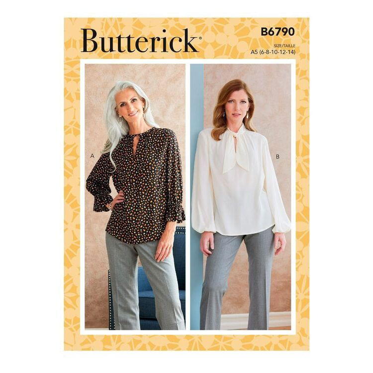 Butterick Sewing Pattern B6790 Misses' Tops