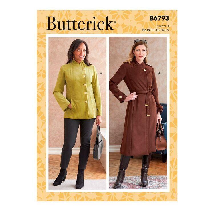 Butterick Sewing Pattern B6793 Misses' Jacket, Coat & Belt