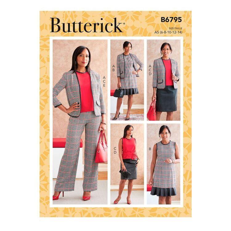 Butterick Sewing Pattern B6795 Misses' Jacket, Dress, Top, Sash, Skirt & Pants