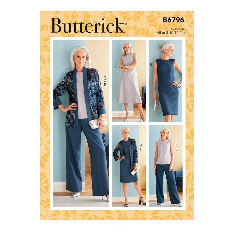 Butterick Sewing Pattern B6796 Misses' Jacket, Dress, Top, Skirt & Pants