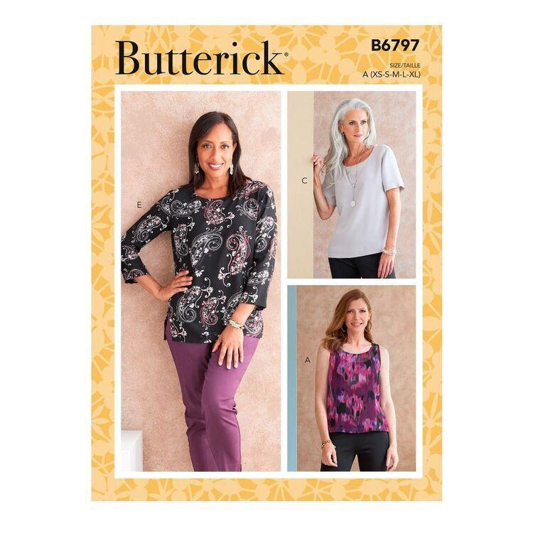 Butterick Sewing Pattern B6797 Misses' & Misses' Petite Scoop-neck Tops
