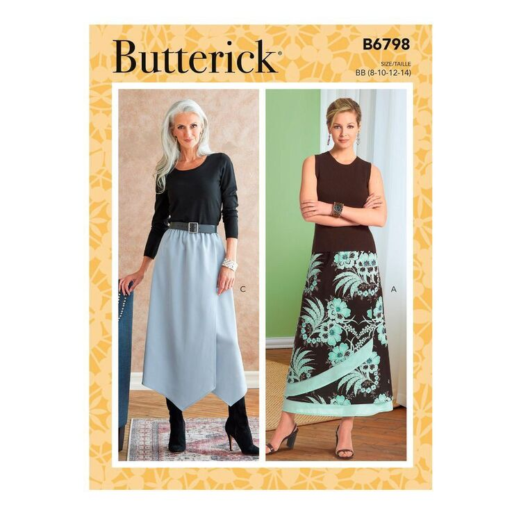 Butterick Sewing Pattern B6798 Misses' & Misses' Petite Gathered-Waist Skirt