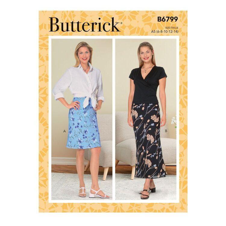 Butterick Sewing Pattern B6799 Misses' & Misses' Petite Bias A-Line Skirt