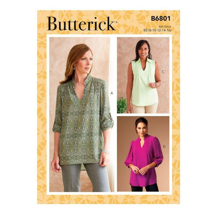 Butterick Sewing Pattern B6801 Misses' & Women's Tucked Or Gathered Top