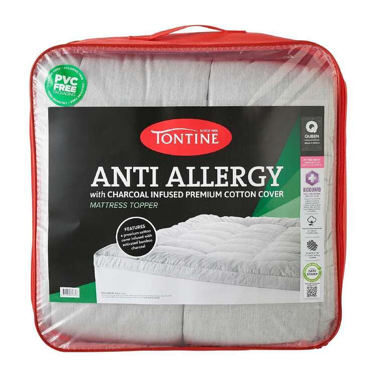 Tontine Anti Allergy Charcoal Infused Mattress Topper