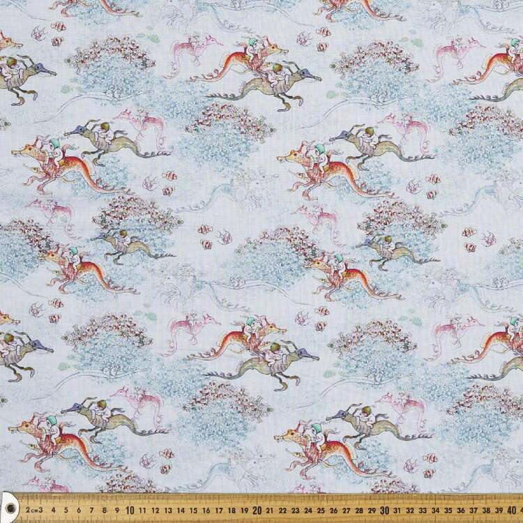 May Gibbs Seahorses Cotton Lawn