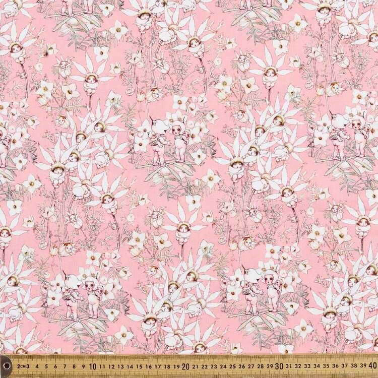 May Gibbs Flannel Flowers Organic Homespun Cotton