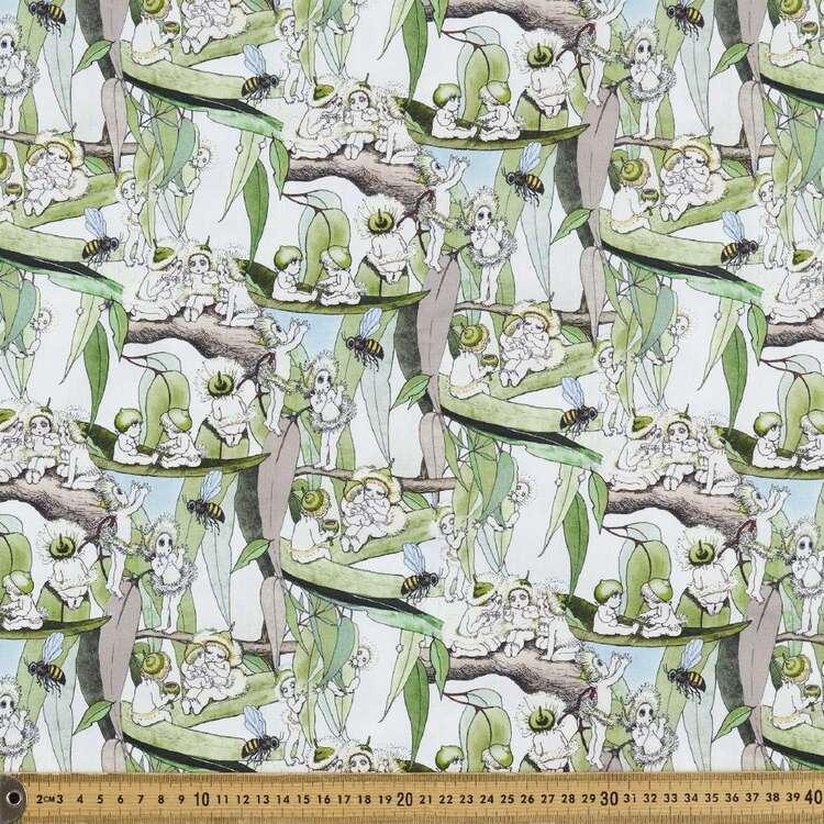 May Gibbs Gum Blossom Babies Organic Homespun Cotton
