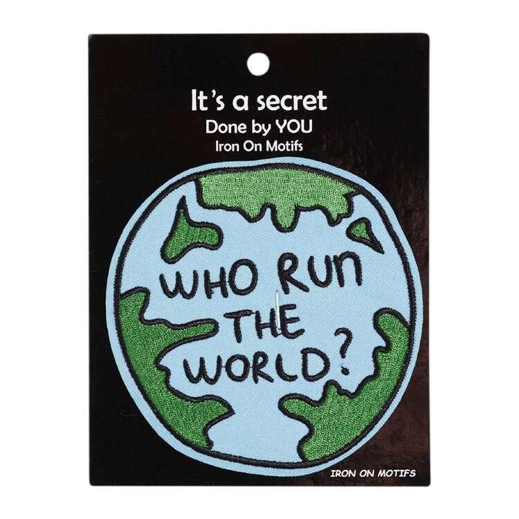Maria George Who Run The World Iron On Motif