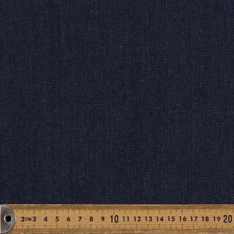 Plain 160 cm Ringspun Denim Fabric
