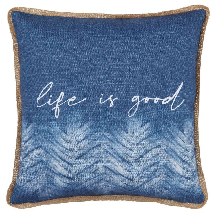 Bouclair Mykonos Life Is Good Cushion
