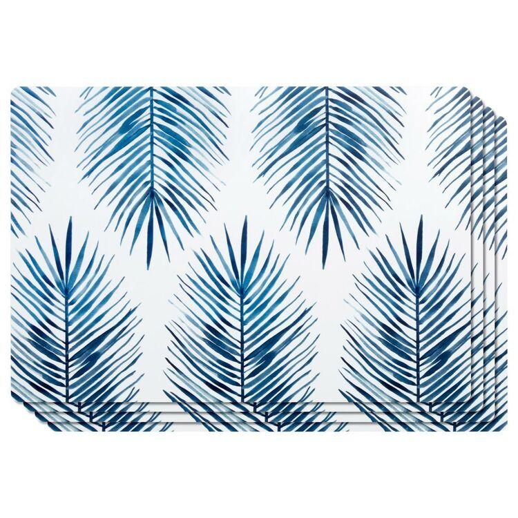 Bouclair Mykonos Set Of 4 Leaf Placemats