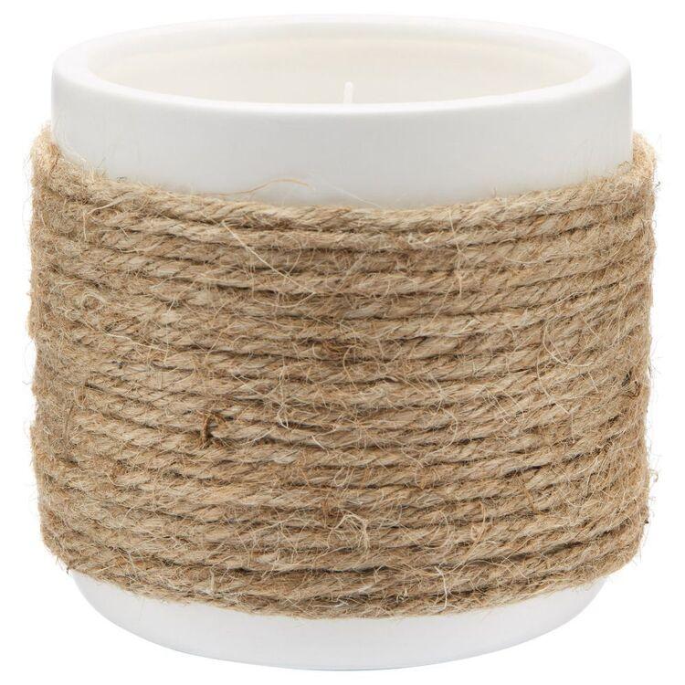 Bouclair Mykonos Straw Candle Jar