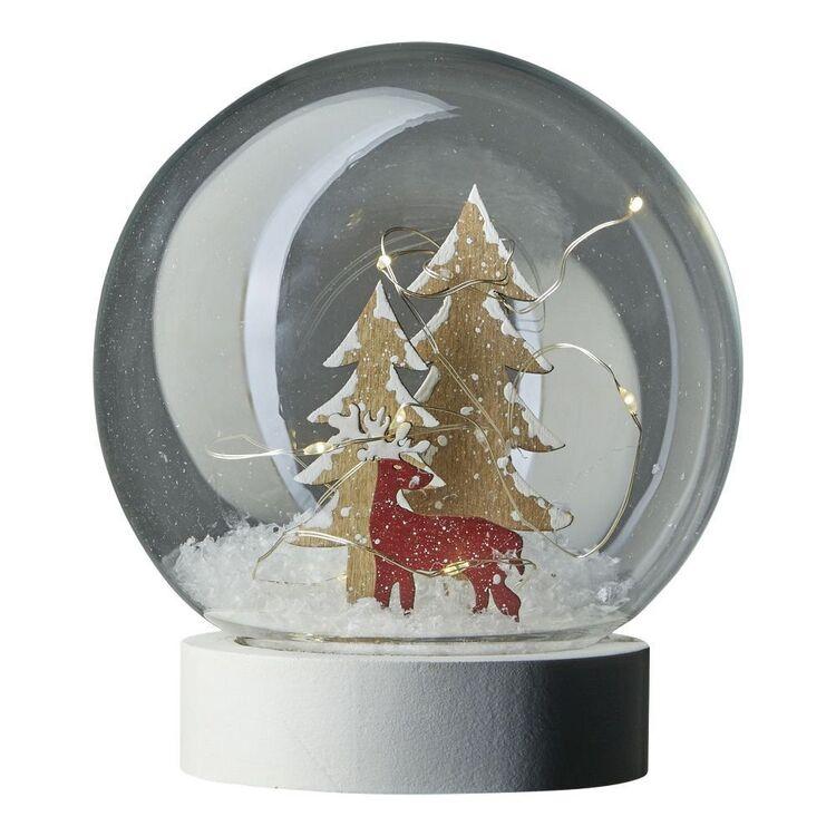 Emporium Illuminated Christmas Reindeer Snowglobe