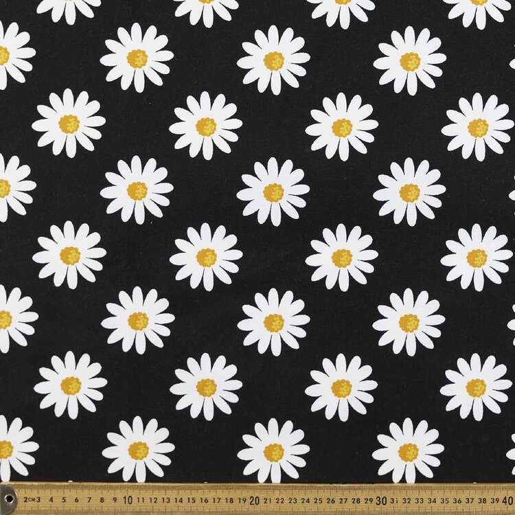 Big Daisy Printed 112 cm Buzoku Duck Fabric