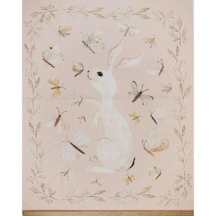Katherine Quinn Flutterbys Bunny Printed Cotton Fabric Panel