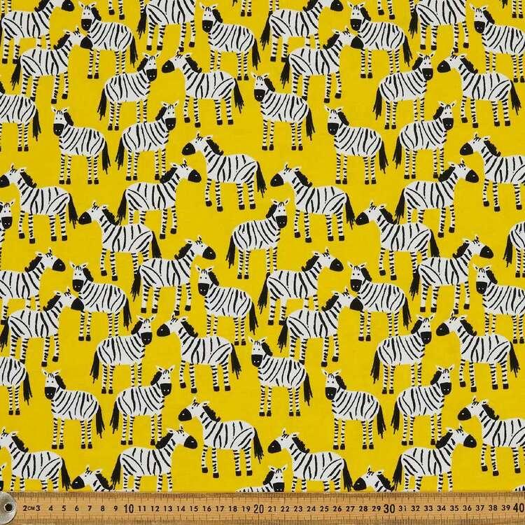 Zebras Printed 112 cm Organic Cotton Jersey Fabric