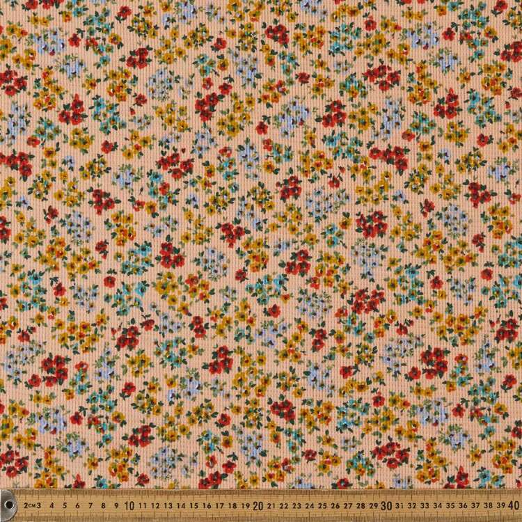 Bouquet Printed 150 cm Waffle Knit Fabric