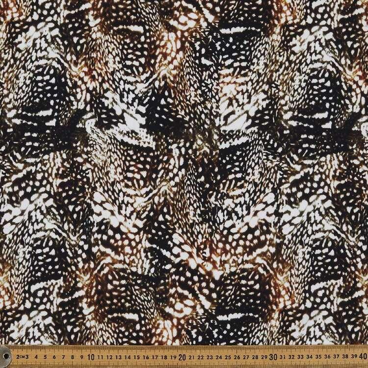 Warped Leopard Print 148 cm Manhattan Scuba Crepe Fabric