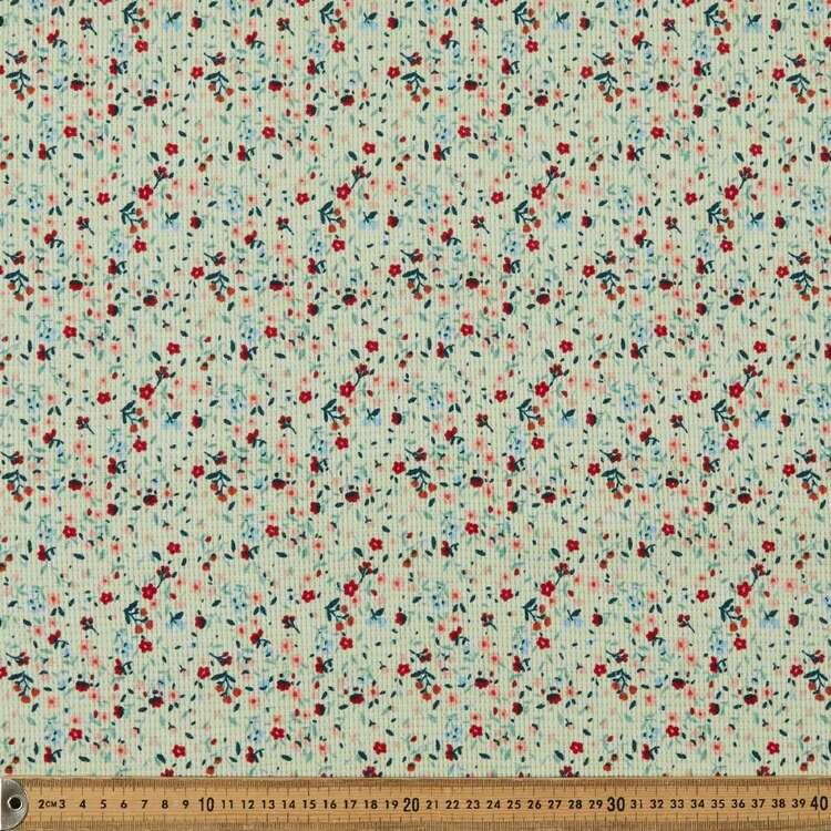 Ditzy Printed 150 cm Waffle Knit Fabric
