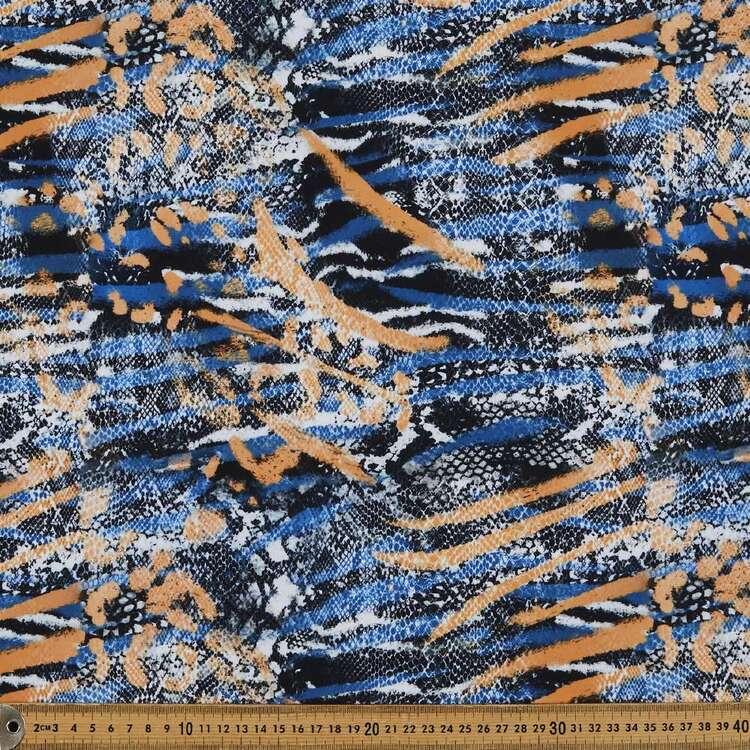 Snakeskin Printed 148 cm Manhattan Scuba Crepe Fabric