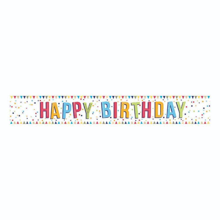 Artwrap White Birthday Banner