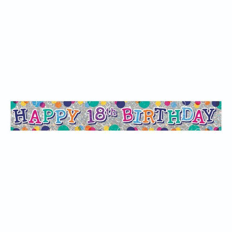 Artwrap 18th Birthday Banner