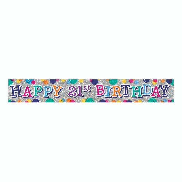 Artwrap 21st Birthday Banner