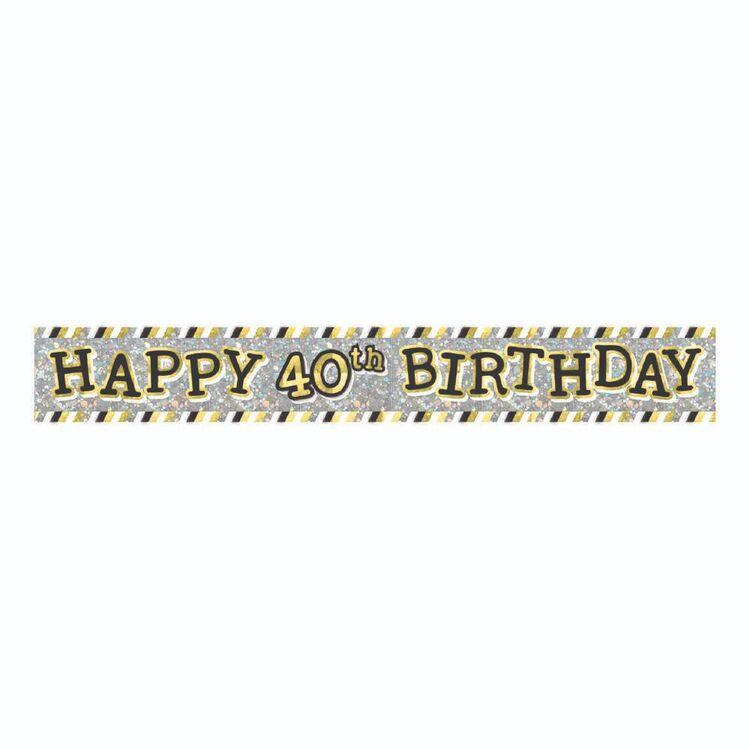 Artwrap 40th Birthday Banner