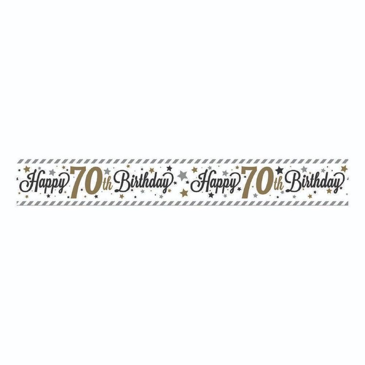 Artwrap 70th Birthday Banner