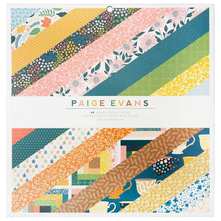 American Crafts Paige Evans Bungalow Lane 12 x 12 in Paper Pad