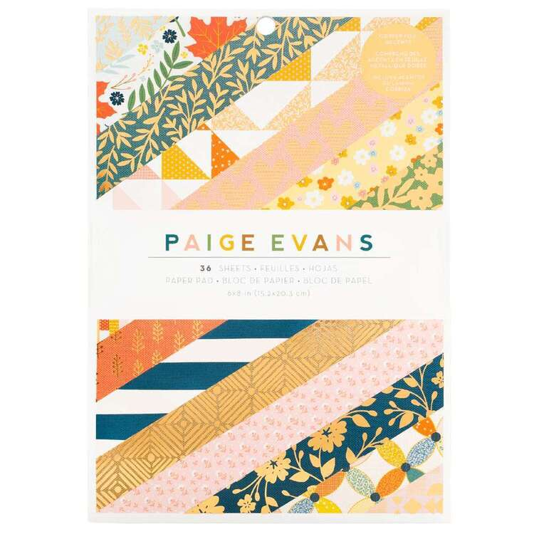 American Crafts Paige Evans Bungalow Lane 6 x 8 in Paper Pad