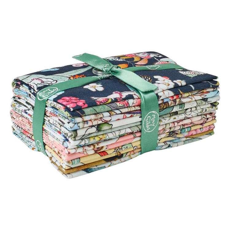 May Gibbs Printed Organic Homespun Cotton Fat Flat Bundle 7 Piece
