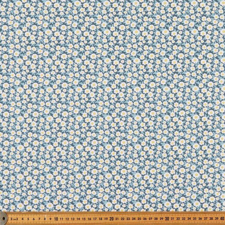 Daisy Printed 112 cm Organic Cotton Poplin Fabric