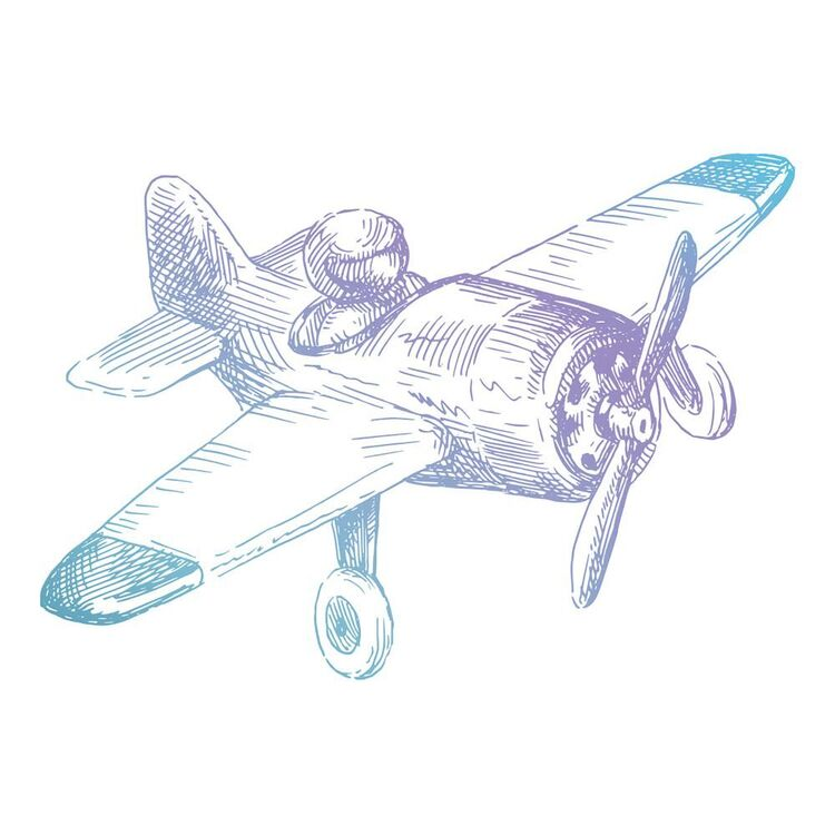 Couture Creations Mini Airplane Stamp